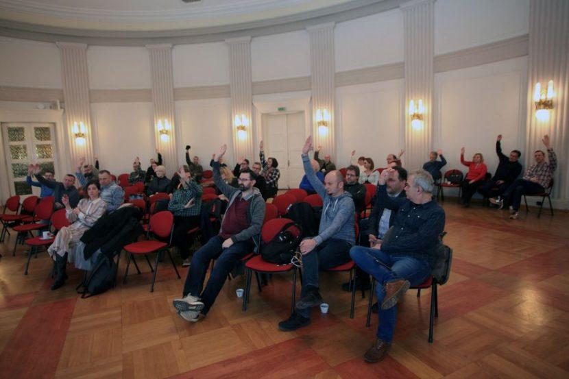 Na izbornoj Skupštini Društva za zaštitu autorskih prava sudjelovalo je četrdeset ljudi. Foto: Mario Ćužić